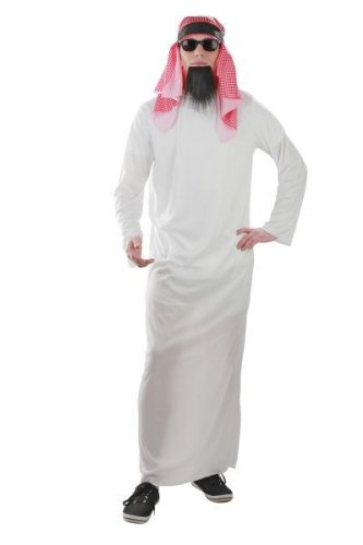 Foxxeo Traje de jeque Traje de jeque árabe árabe Traje de jeque, Talla: XL