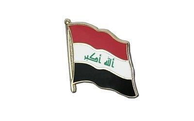Irak Flaggen Pin, irakische Fahne 2x2cm, MaxFlags®