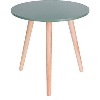Holz Beistelltisch Grun 40x39 Cm Deko Tisch Klein Couchtisch Sofatisch Rund Amazon De Kuche Haushalt