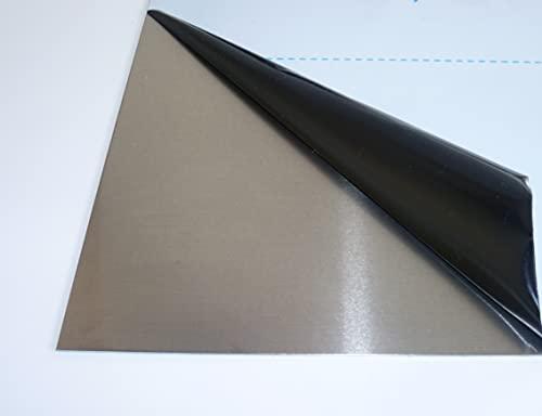 B&T Metall Aluminium Blechzuschnitte 2,0 mm stark Alu Blech gewalzt blank natur einseitig mit Schutzfolie im Zuschnitt Größe 25 x 30 cm (250 x 300 mm)
