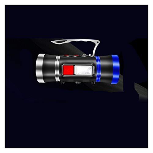 Yanqhua Luces de Camping Reflector LED de luz de la Pesca Blanco/BLU-Ray Incorporado en la batería de Litio Más de 500 Metros USB Recargable Repelente de Mosquitos (Emitting Color : Basic Version)