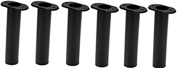 ButyYI 2 Pieces Black Flush Mount Rod Holder Cap /& Gaskets Fit for Mount Fishing Rod Holders