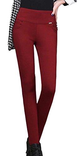 Pantalones Mujer Espesar Termica Elásticos Lápiz Leggins Otoño Invierno Fashion Elegantes Basicas Unicolor Cintura Alta Skinny Pantis Termo De Pantalones Pantalones De Tiempo Libre Disfraz