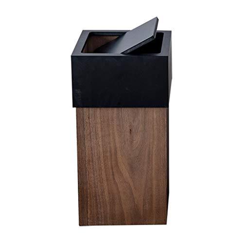Papeleras Cubos de basura interiores Bote de basura grande de madera Tapa cuadrada con tapa superior Reciclaje de desechos Contenedor de basura Contenedor de basura for hotel de oficina en casa Cubos
