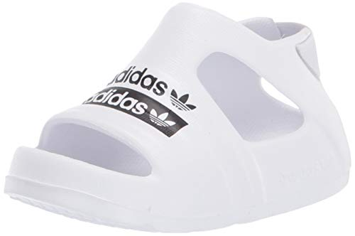 adidas Originals Baby Adilette Play Slides, FTWR White/core Black/FTWR White, 4K M US Infant