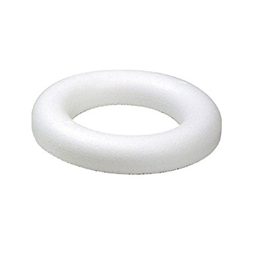 Smithers Oasis Festive Polystyrene Half Round Rings/Wreaths (25cm (Pack of 2)