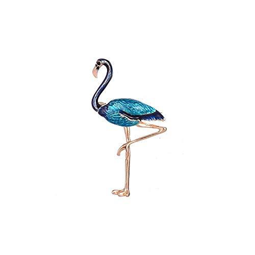 Fable Damen Flamingo-Brosche (Einheitsgröße) (Blau)