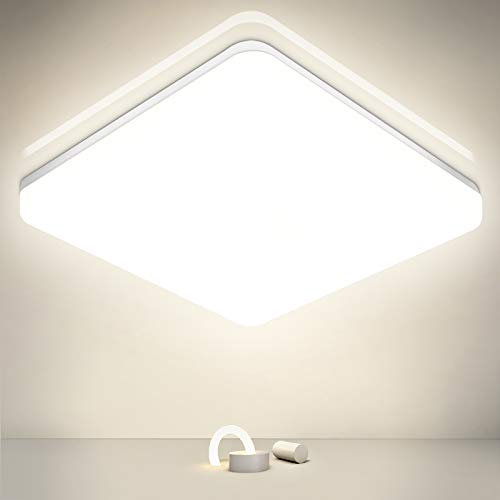 Oraymin LED Deckenleuchte Bad 36W, 3600LM LED Deckenlampe 32.7X4.9CM, IP54 Wasserfest LED Badlampe Ideal für Badezimmer, Wohnzimmer, Büro, Balkon, Esszimmer, Neutralweiß 4000K
