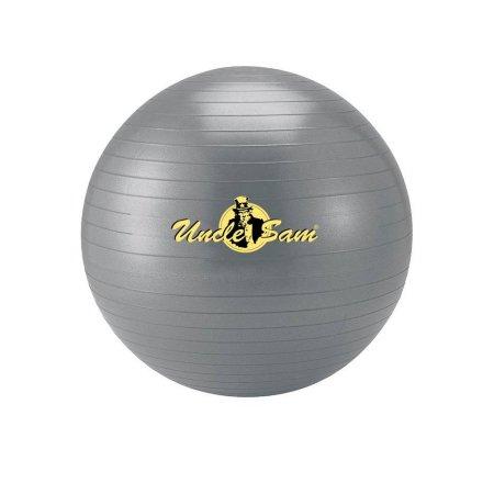 Uncle Sam Unisex– Erwachsene Gymnastikball, grau, 75cm