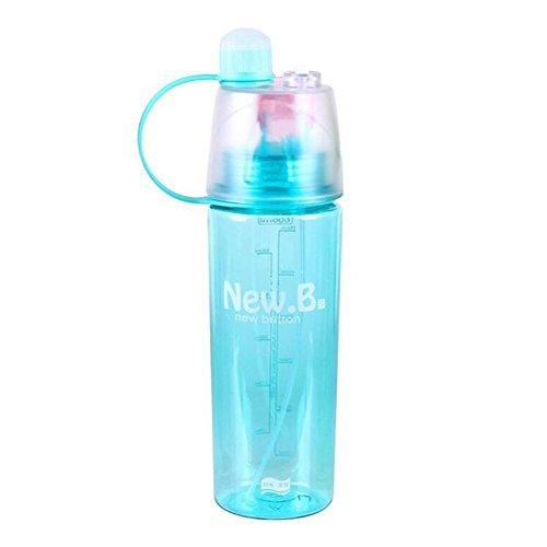 valgens 600 ml Bouteille d'eau Sports d'extérieur Tasse en plastique Vaporisateur d'été étudiants personnalité Bouilloire, Bleu