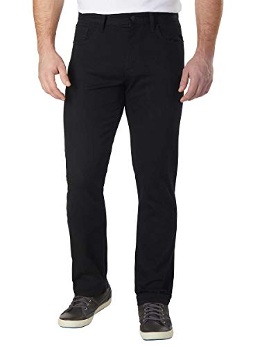 Calvin Klein Jeans Men's Stretch Straight Leg Cotton Twill Pants, Black (32W x 30L)