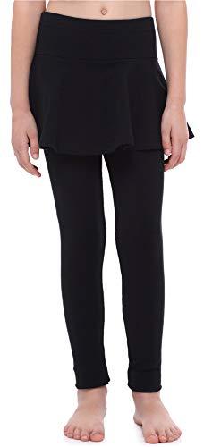 Merry Style Mädchen Lange Leggings aus Baumwolle mit Rock MS10-254 (Schwarz, 122 cm)