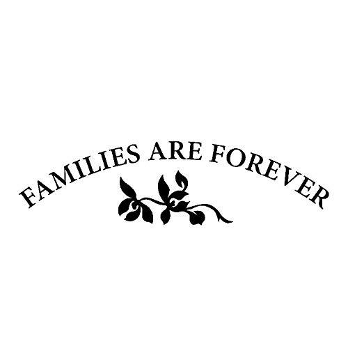 gaozhong 15,5 CM * 4,2 CM Las familias Son para Siempre Vinilo calcomanía Coche Pegatina Amor Familia C3-2145-Negro