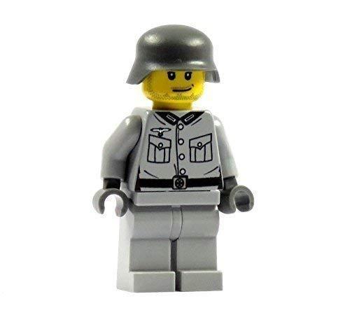 Custom Soldat 2.0 grau Figur bedruckt aus LEGO® Teilen
