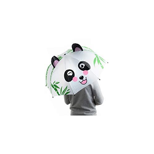 BigBuy Kids Paraguas Infantil Oso Panda, Multicolor