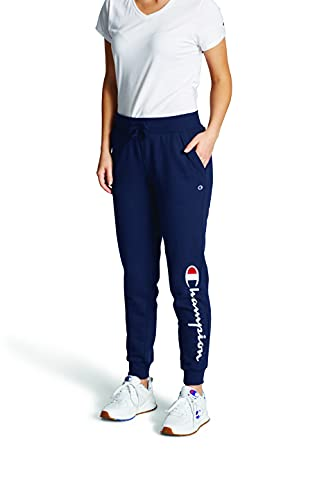 Champion Women s Powerblend Jogger, Athletic Navy Graphic, X-Large