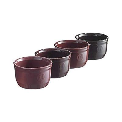 Emile Henry Fig Shaded, set of 4 set of individual ramekins, 8.75 oz