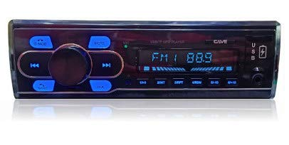 Cave FM-2200 App Controller Car MP 3/ Audio Player/ Stereo High Power Universal Fit with Bluetooth/ USB/ FM/ AUX/ Wireless Remote & 3.5 mm Aux & Built-in Equalizer with Bass & Treble Control, Color Black, Cave 1