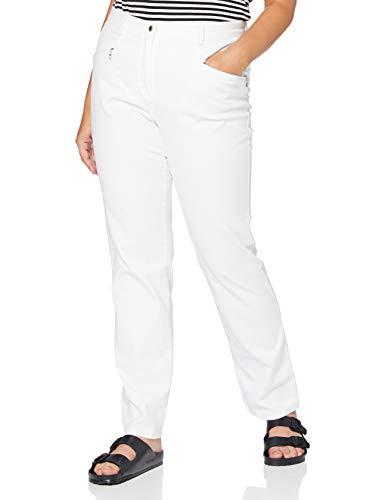 Ulla Popken Damen große Größen Stretchhose Mony Hose, Weiß (Weiß 65403220), 46