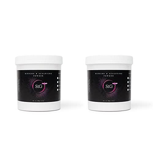Acrylic Nail Powder 2 pc Set- StG Professional Dip and Sculpting Powder- Clear 10oz & White 10oz