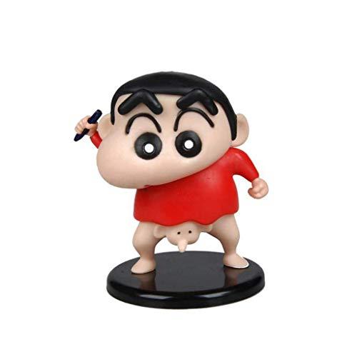 dsfew Crayon Shin-Chan Anime Statue PVC Figura - Alto 5.1 Pulgadas, Decoraciones Y Juguetes De Oficina.