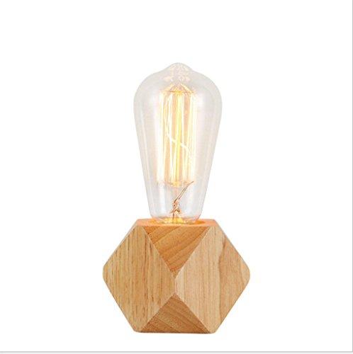 Lampe de table,Petite lampe de table en bois Veilleuse Veilleuses de chevet Personnalité LED Bar lampe de table Lampe de table décorative interrupteur d'alimentation