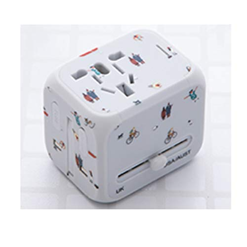 Convertidores de enchufes, uso global, Estados Unidos, Japón, Tailandia, China, Taiwán, Canadá, Colombia, México, Corea del Sur, Filipinas, etc. (obsequiar) (Color : White, Size : 5.6 * 5cm)