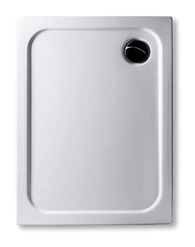 aus Deutscher Produktion : Acryl Duschwanne 90 x 75 cm superflach 2,5 cm, GERADE UNTERSEITE - zum sofortigen Aufkleben geeignet, rechteckig weiß Dusche/Duschtasse/Brausewanne
