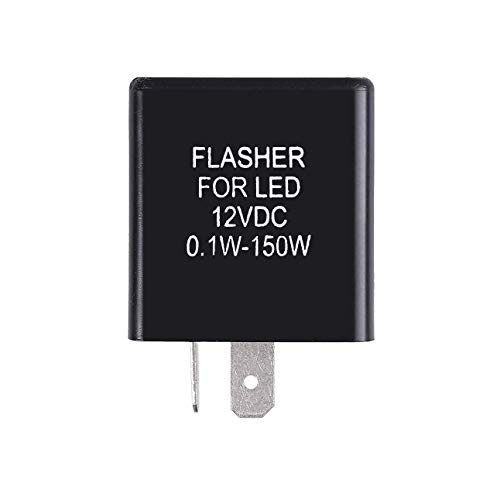 GTSpeed Universal Turn Signal 2 Pin Flash Rate Control Relay Fix Motorcycle Hyper Flash Flasher