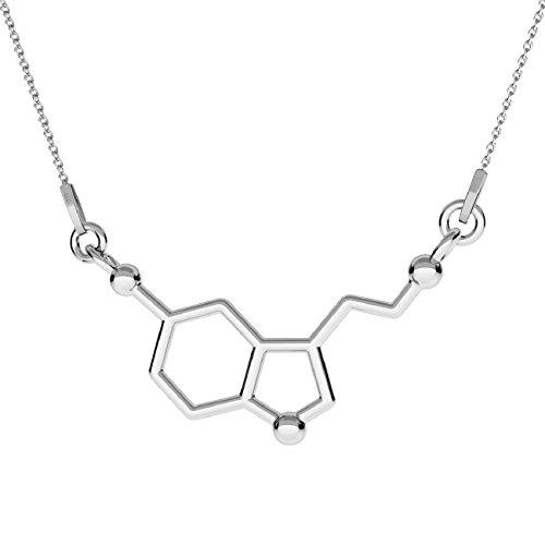 Crystals & Stones **NEU** *Serotonin* *Chemische Formel* Silber 925 *Halskette* Schön Damen Halskette - Anhänger Halskette Schmuck Mutter Geschenk PIN/75