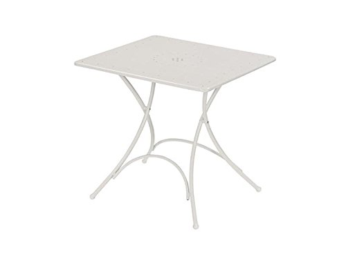 EMU Gartentisch aus Stahl, quadratisch, zusammenklappbar, Pigalle 76 x 76 cm