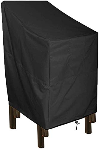 RISEMART Schutzhülle Gartenstühle Abdeckung mit Belüftungsöffnung,Wasserdicht, Winddicht, UV-Beständiges,210D Oxford Gewebe Schutzhülle(65x75x85/120cm)