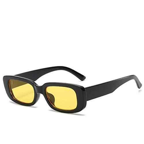 A-Gavvzqneue Trend Quadratische Box Sonnenbrille Mode Wilde Quadratische Brille, 3