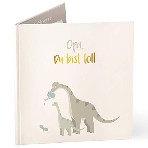 mintkind Libro de regalo con texto en alemán 'Opa du bist toll' para el abuelo I regalo para el abuelo I libro como regalo de cumpleaños, Navidad o como regalo de agradecimiento