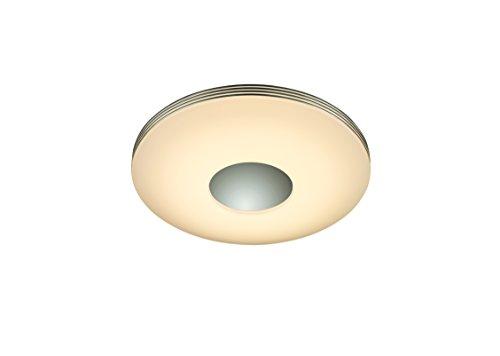 Reality Leuchten LED Deckenleuchte, SMD-LED 25 W 3000 lm, 3000-5000 K Lichttemperatur verstellbar, dimmbar, inklusive Fernbedienung, Durchmesser 34 cm, nickel/weiß R62552506