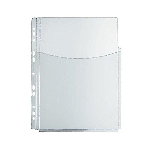 Herlitz 10834596 Katalog-Tasche A4 mit Falten für hohes Füllvermögen, PVC-Weichfolie, 5 Stück