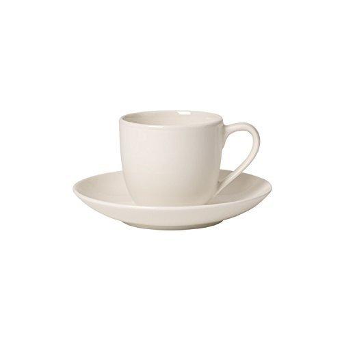 Villeroy & Boch 1041531410 For Me Mokka-/Espressotasse mit Untertasse, 2 teilig