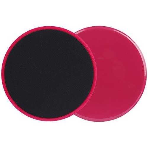 Heveer Discos de Deslizamiento Core Sliders Fitness Discos Deslizantes Ejercicios de Doble Cara para Uso en Alfombra y Pisos Duros 2 Piezas Rojo