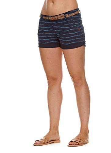 Ragwear Damen Heaven Organic Kurze Hose, Frauen Shorts,Sommerhose,kurz,Stretch,Regular Fit,Blau,27
