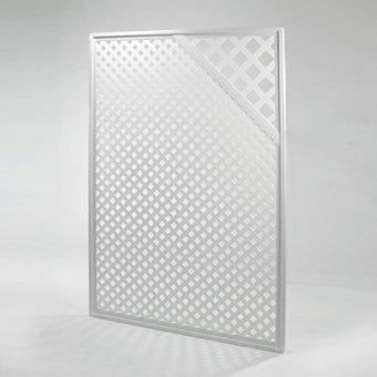 Videx-Sichtschutzwand Kunststoff, Coventry-Diamant, Zierecke, 125 x 185cm, weiß