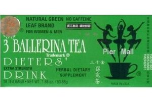 3 Ballerina Dieters Drink Extra Strength Sliming Tea 18 count (1 Box)