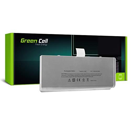 Green Cell® A1280 Laptop Akku für Apple MacBook 13 A1278 2008 (Li-Polymer Zellen 45Wh 10.8V Silber)
