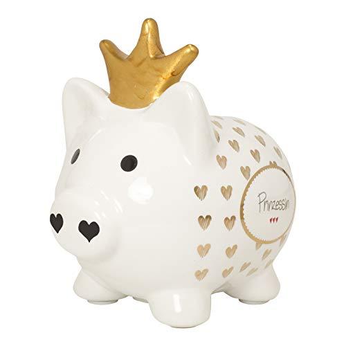 Mea Living Sparschwein mit Golddruck Prinzessin