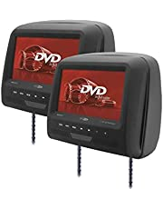 """Calibre MHM273T Paquete 2 reposacabezas con 7 """"TFT LCD / 2 x DVD, Negro (Importado)"""