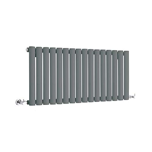 Hudson Reed Vitality – Radiateur Design Horizontal Compact – Anthracite – 40 x 100cm