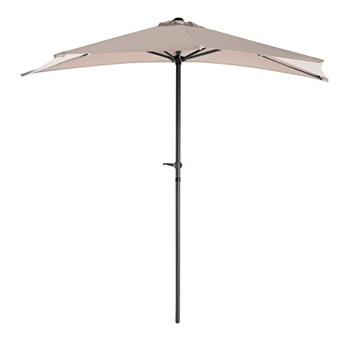Parasol de terraza Plegable de Aluminio Beige de 250 cm Garden - LOLAhome