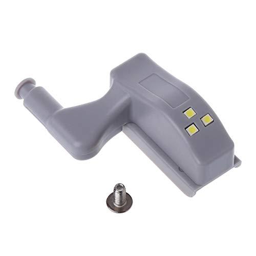 Folewr Luz universal del sensor de la bisagra del armario LED 0.25W para el dormitorio de la cocina 1PC