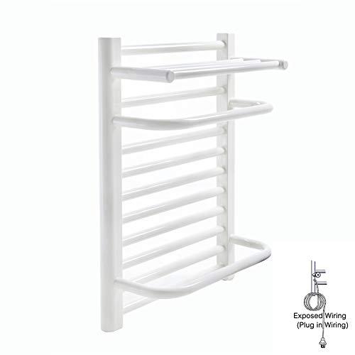 Mijogo Cremagliera elektrische servethouder, voor de badkamer, constante temperatuur, laag koolstofgehalte van de servetten van staal, verwarming, huishoudelijke apparaten, hangende handdoek, pluginwiring