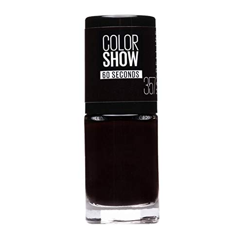 Maybelline ColorShow Nagellack, Nr. 357 burgundy Kiss, bringt die Laufsteg-Trends aus New York auf die Nägel, in sattem burgunderrot, 7 ml