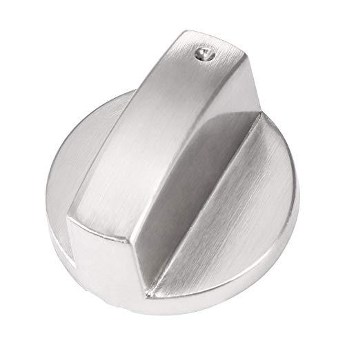 LKHF Perillas de cocina de gas de metal y plata para cocina, interruptor de horno, control de superficie de cocina, piezas de utensilios de cocina para la mayoría de estufas de gas